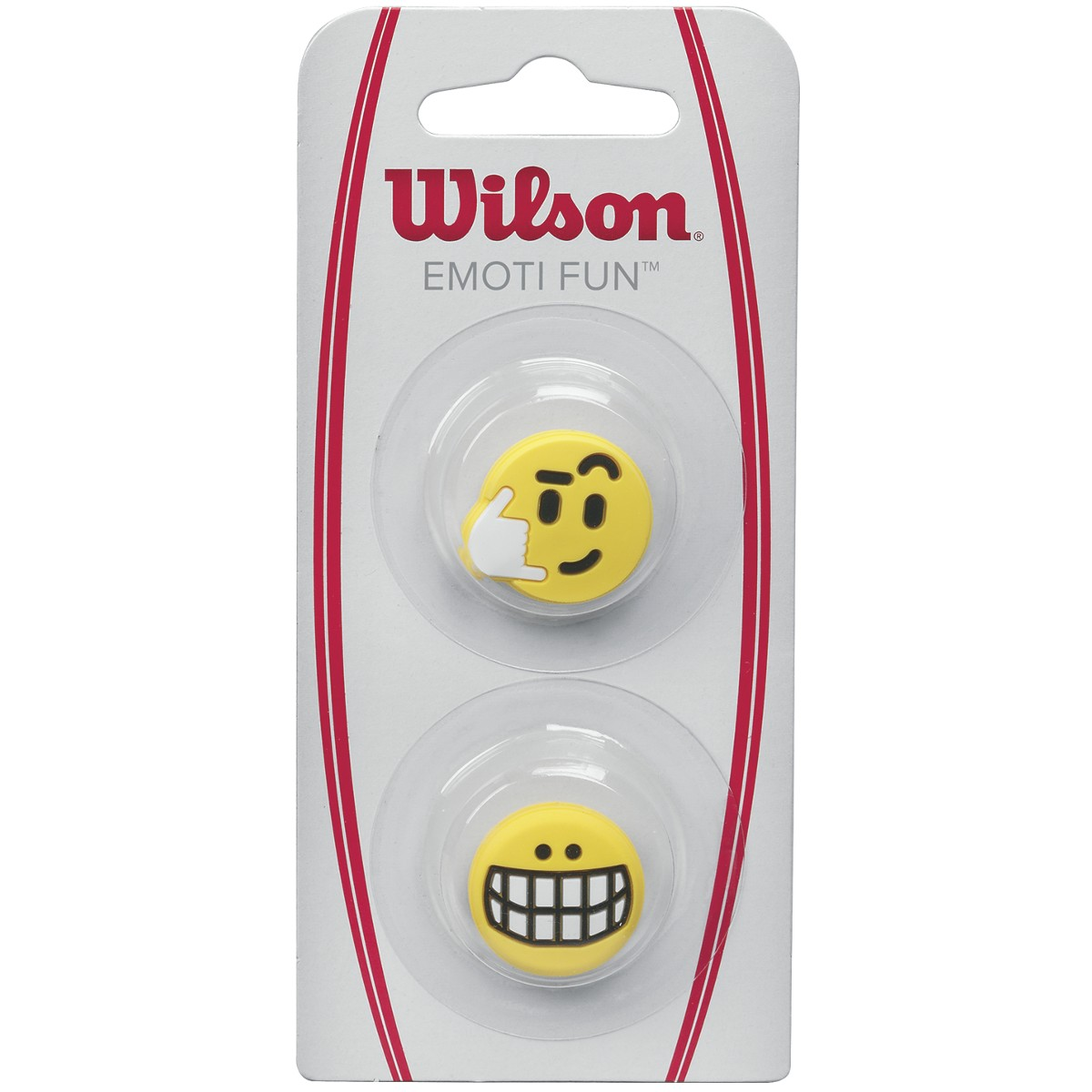 ANTIVIBRATEURS WILSON EMOTI FUN BIG SMILE/CALL ME