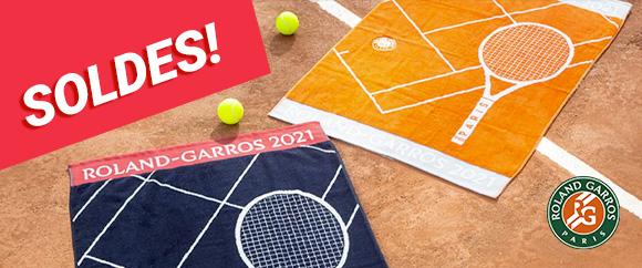 Soldes serviettes Roland Garros