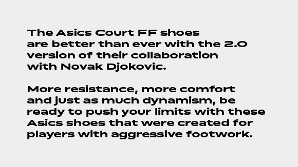 the version 2.0 asics court ff shoes
