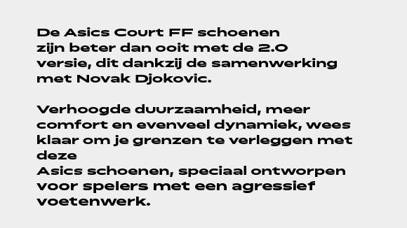 schoenen asics court ff version 2.0