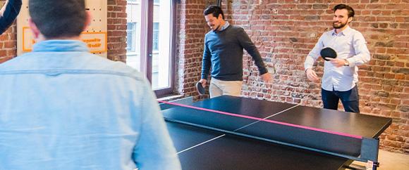 Filets transportables, mini-tables, raquettes de ping pong